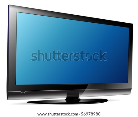 lcd plasma tv. - stock vector