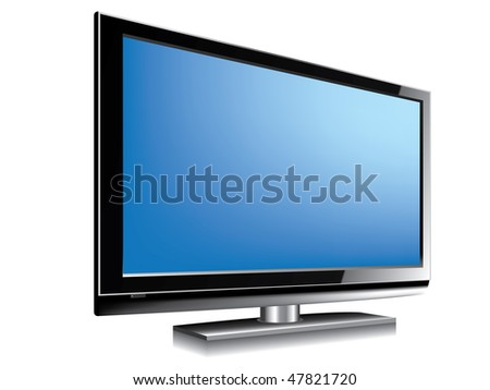 LCD television BLUE - stock vector