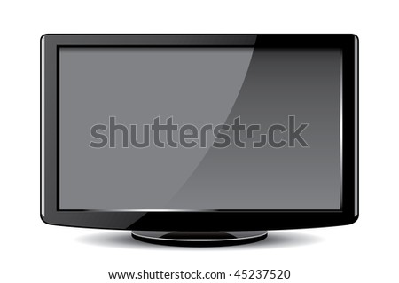 lcd tv/monitor - stock vector