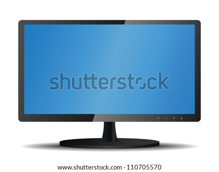 Lcd tv monitor. Illustration on white background - stock vector