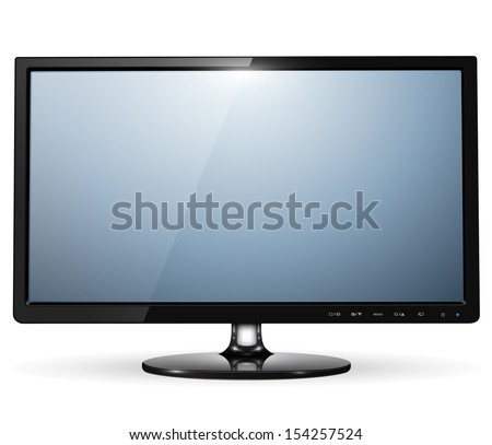 lcd tv monitor, vector illustration. - stock vector