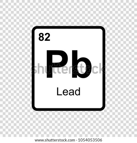 Lead chemical element sign atomic number stock vector 1054053506 lead chemical element sign with atomic number chemical element of periodic table urtaz Choice Image