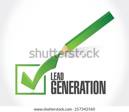 lead generation check list illustration design over a white background - stock vector