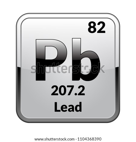 Lead symbol chemical element periodic table on stock vector hd lead symbolemical element of the periodic table on a glossy white background in a urtaz Gallery