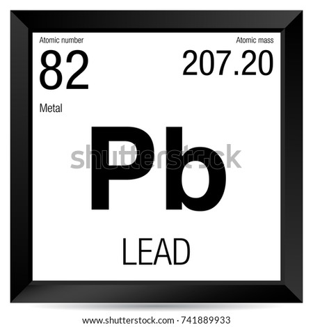 Lead symbol element number 82 periodic stock vector 741889933 lead symbol element number 82 of the periodic table of the elements chemistry urtaz Image collections