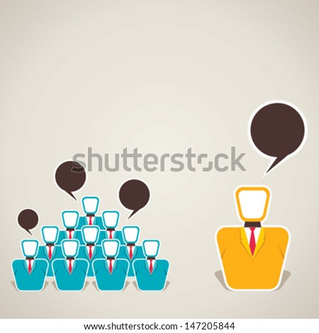 leader and his team discussion stock vector - stock vector