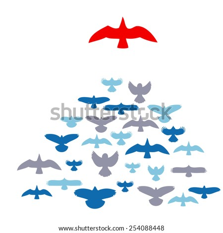 leader bird - stock vector