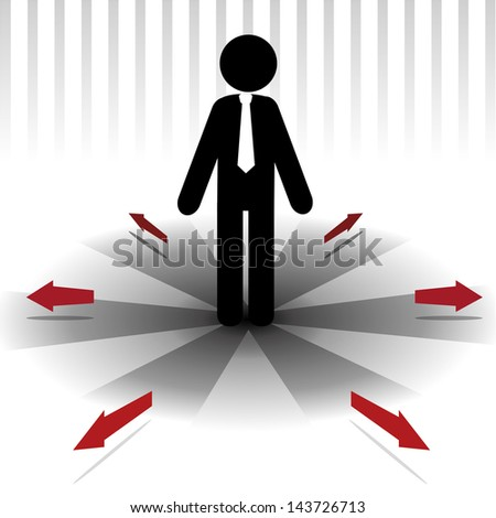 leader design over lineal background vector illustration