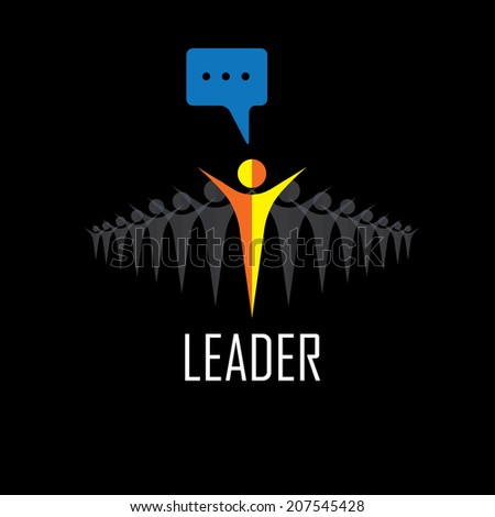 leader, leadership, winner, success - vector icons. This graphic illustration also represents executives and manager, highly motivated staff & boss, ceo & employees, leading from front - stock vector