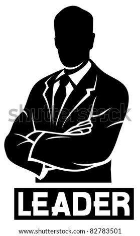 leader (successful businessman) - stock vector