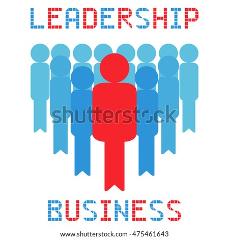 leadership business management crowd on the white background