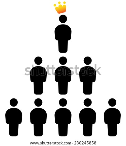 Leadership concept - stock vector