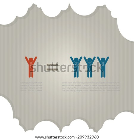 Leadership concept for business, vector eps10 - stock vector