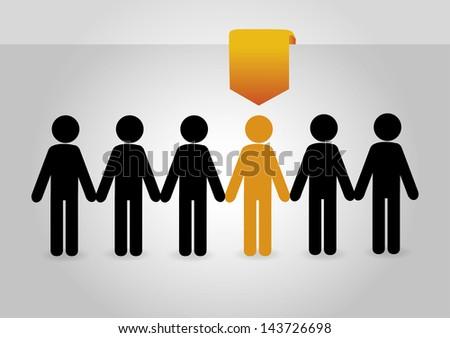 leadership design over gray background vector illustration - stock vector