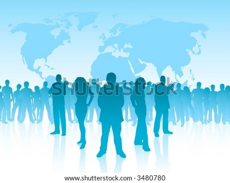 Leadership, each silhouette is separate and can be used individually - vector - stock vector