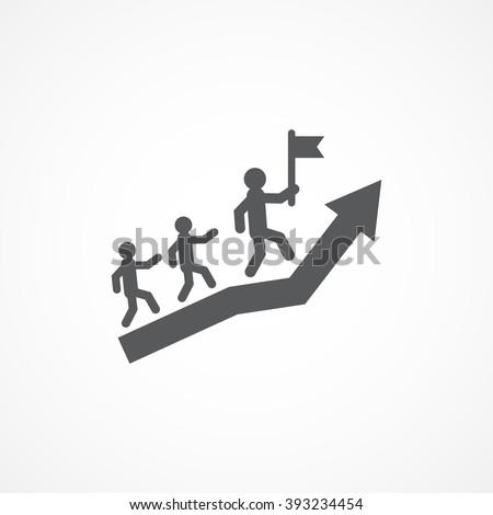 Leadership Icon - stock vector