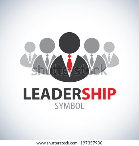 Leadership symbol icon. Vector design. Leader and teamwork concept, Logo template design - stock vector