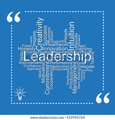 Leadership tag cloud - stock vector