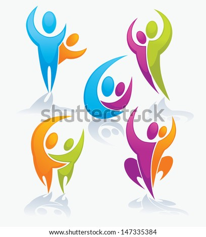 leadership, victory and communication vector collection of symbols - stock vector