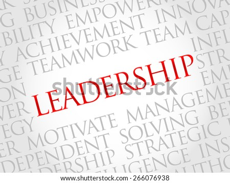 LEADERSHIP word cloud, business concept - stock vector