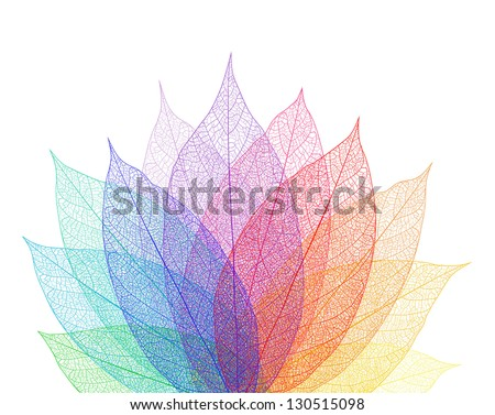 Leaf abstract background - stock vector