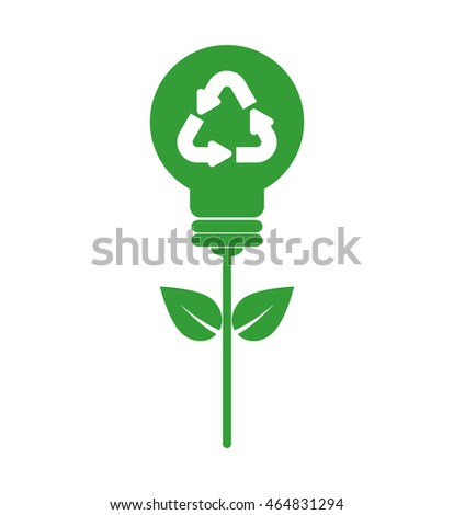 leaf bulb ecology nature save icon. Isolated and flat illustration. Vector graphic