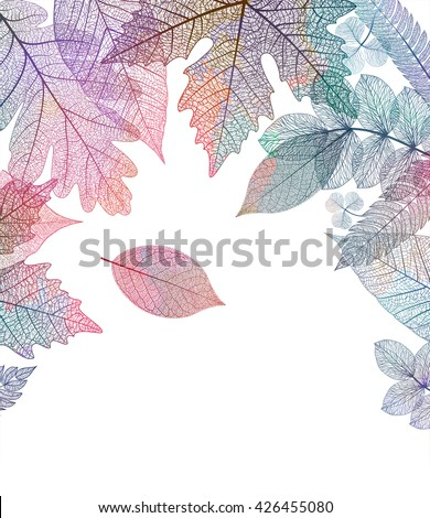 Leaf colorful autumn background. Vector, EPS10. - stock vector