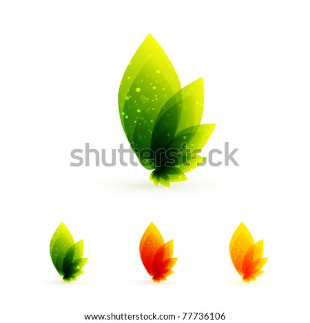 Leaf concepts - stock vector