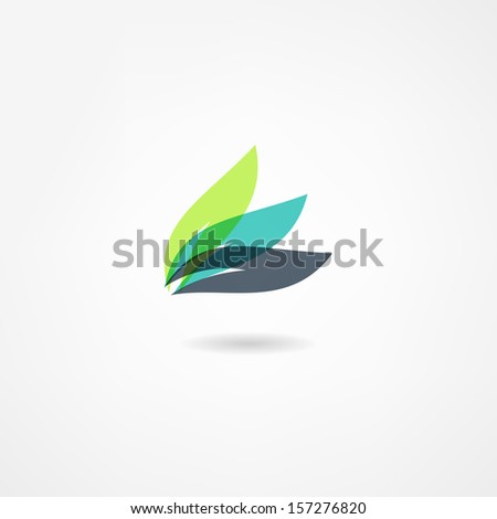 leaf icon - stock vector