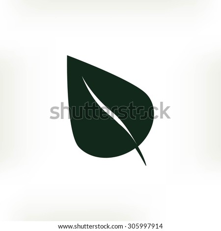 leaf icon - stock vector