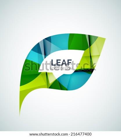 Leaf logo, concept, branding logotype design - stock vector