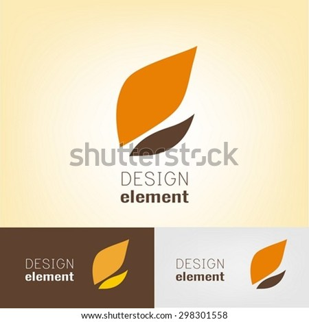 Leaf logo design template - stock vector