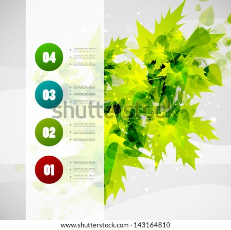 Leaf nature infographics modern vector template - stock vector