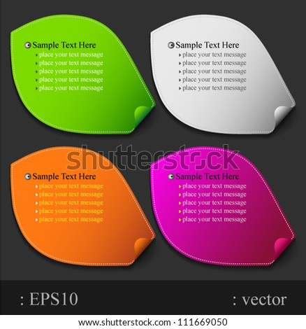 Leaf paper color modern, can use for business concept, education diagram, brochure object. - stock vector