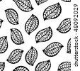 Leaf seamless ornament - stock vector