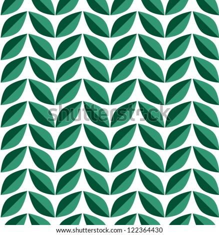 Leaf seamless pattern. Nature background. Vector illustration - stock vector
