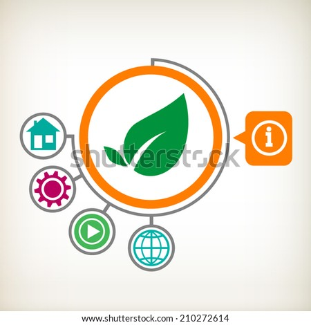 Leaf sign icon. Fresh natural product symbol.  - stock vector