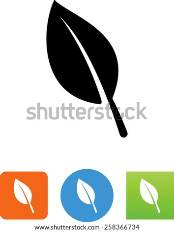 Leaf symbol for download. Vector icons for video, mobile apps, Web sites and print projects.  - stock vector