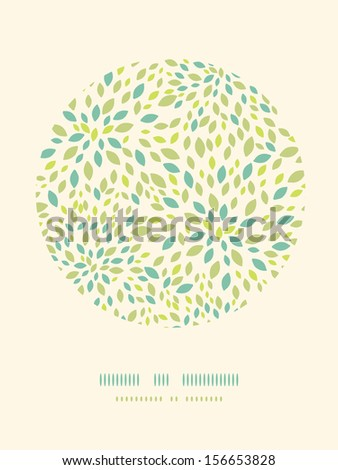 Leaf texture circle decor pattern background - stock vector