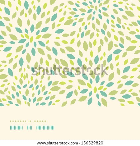 Leaf texture horizontal border seamless pattern background - stock vector