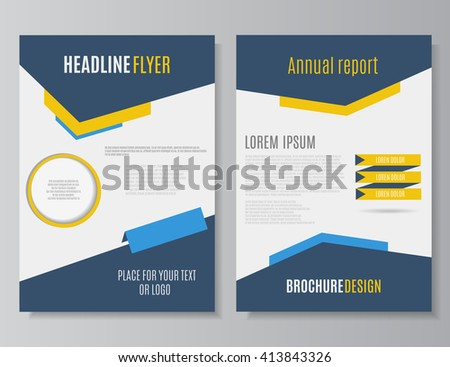 leaflet design annual report flyer template stock vector royalty