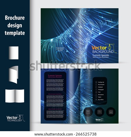 Leaflets, flyers on a technological issue. Science in the future. - stock vector