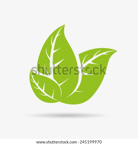 leafs background design, vector illustration eps10 graphic  - stock vector