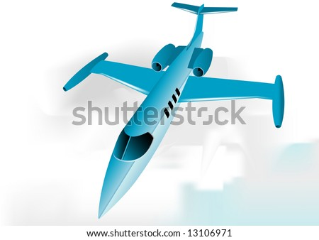 Learjet fully editable vector image - stock vector