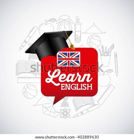learn english design  - stock vector