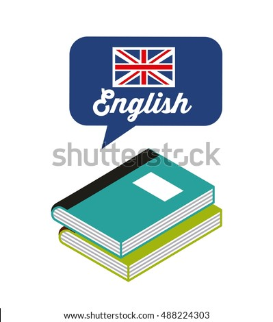 learn english study icon vector illustration design