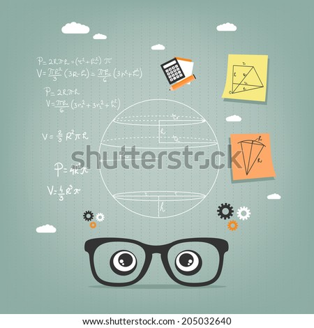 learn geometry  - stock vector
