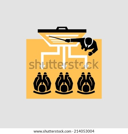 Learning business - stock vector