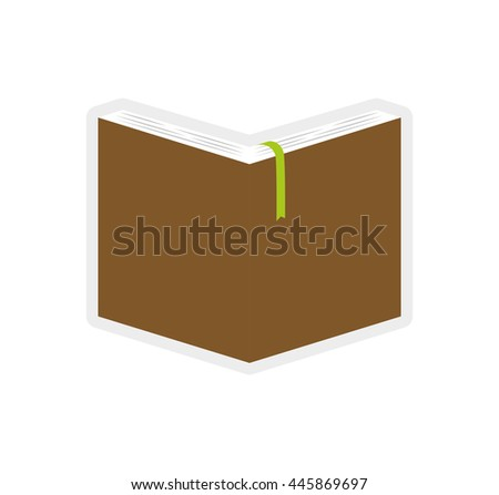 Learning concept represented by book icon. isolated and flat illustration