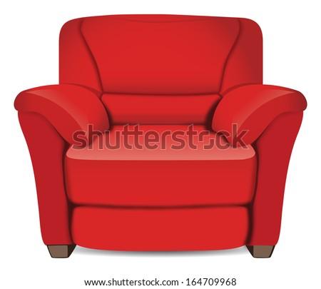 leather armchair - stock vector